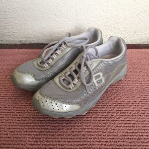 5a07c882d5d BEBE Silver and Pink Sneakers